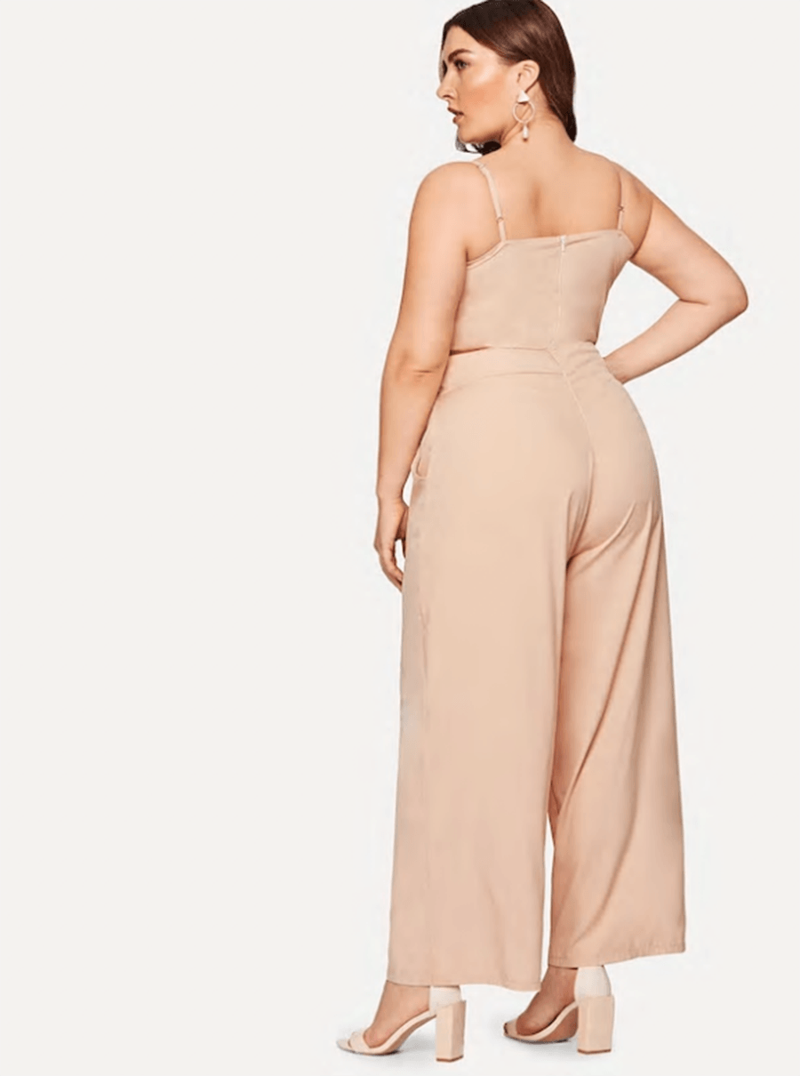 Sleeveless Hollow Jumpsuit