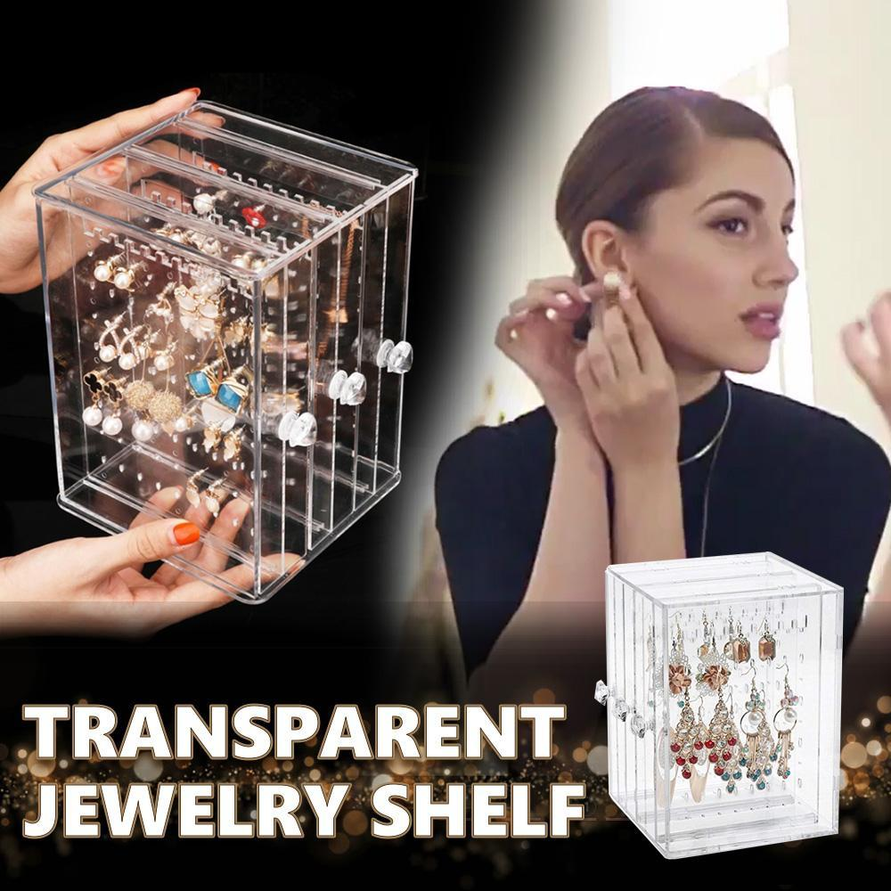 3-Layers Transparent Jewelry Display Shelf