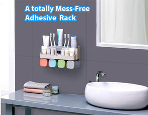 All in one Adhesive Bathroom Rack