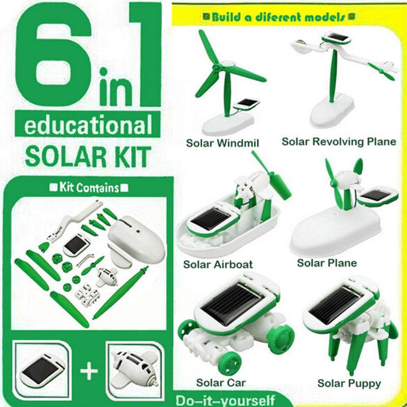 6 in 1 solar DIY toy