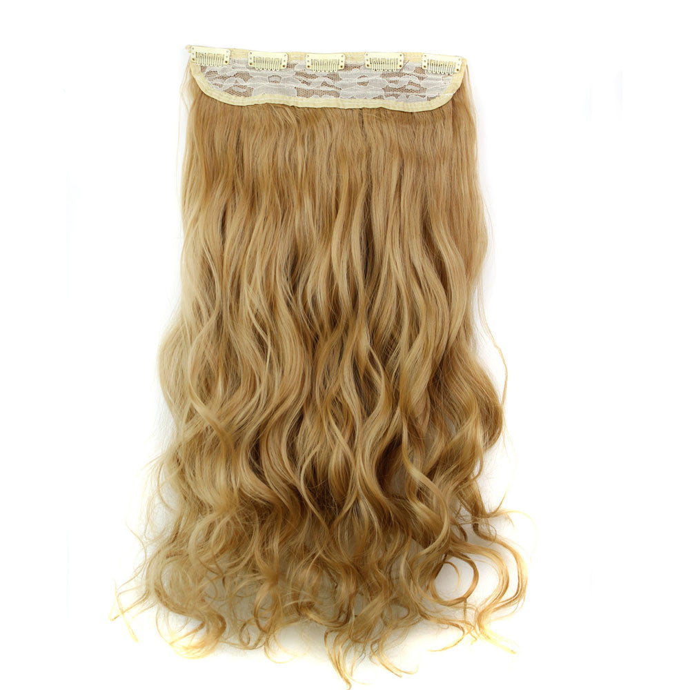 5pcs Clip False Hair Synthetic Hair Extension Curly Heat Resistant