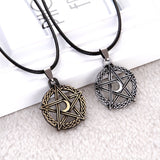 1 PCS Pentagram Tree Of Life Moon Pendant Necklace Crescent Rope Chain Protection Star Goddess Magic Supernatural Amulet Jewelry - Magic-Charms.com