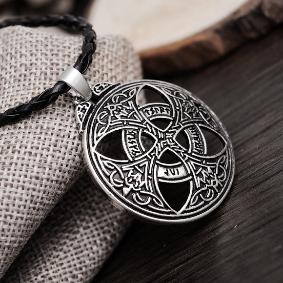 1pcs Vinkings Pendant Necklace Large Celttic Knot Love Pendant Viking Norse RUNE Pendant Necklace Wiccan Pagan Asatru Jewelry - Magic-Charms.com