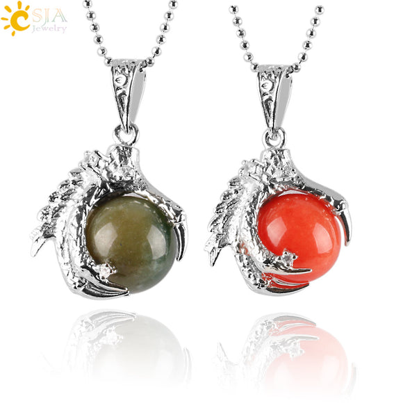 Gem Stone Dragon Claw Necklaces & Pendant Ball - Magic-Charms.com