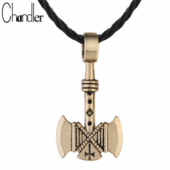 Chandler 1pcs Valknut Viking Axe Necklace For Men Axes Amulet Gothic Retro Pagan Pendant Vikings Jewelry Wholesale Free Shipping - Magic-Charms.com