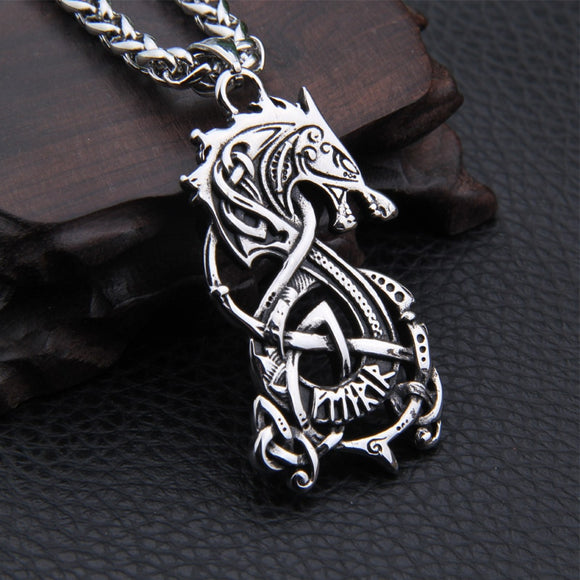 Dropshiping new arrival stainless steel Viking Dragon pendant necklace men gift - Magic-Charms.com