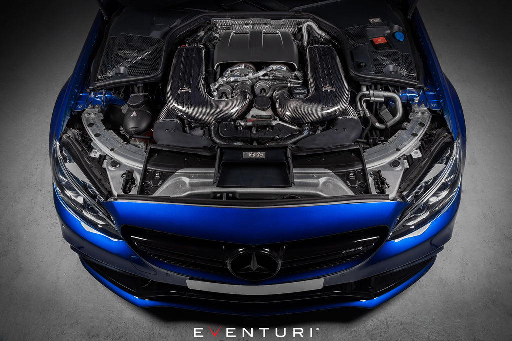Eventuri W205 C63S Intake Installed Overhead View