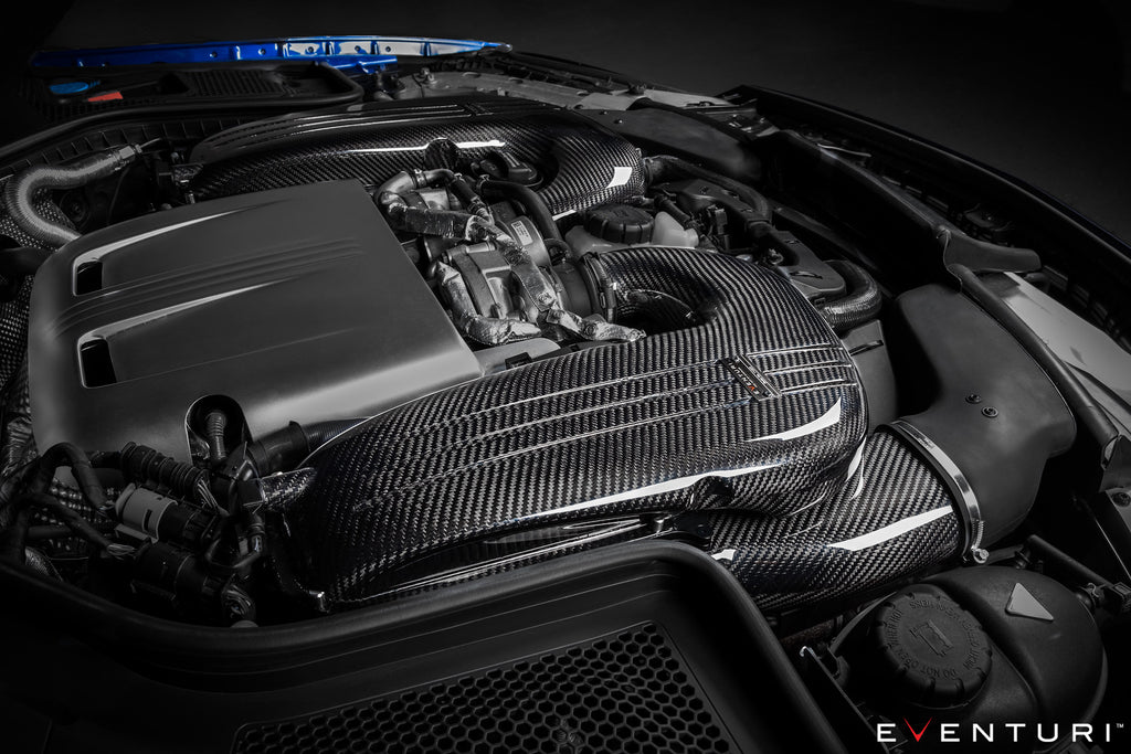 Eventuri W205 C63S Intake Rear Angle View