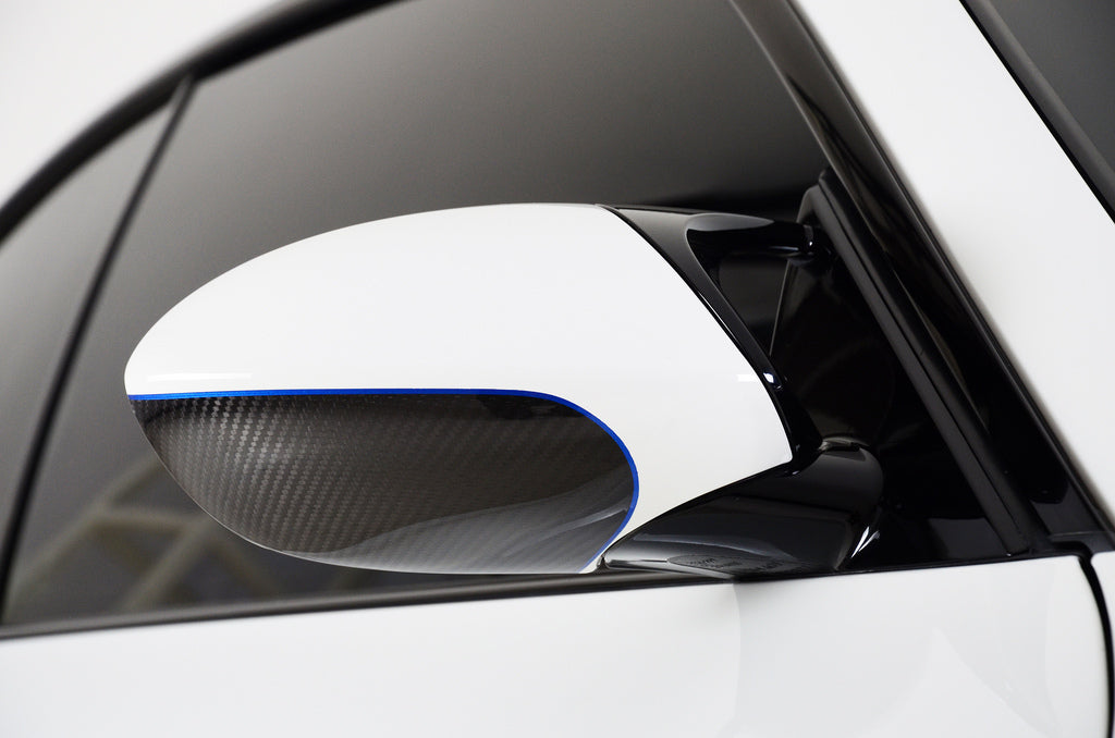 BMW Performance Carbon Fiber Mirror Covers with M5 Paint Scheme 8