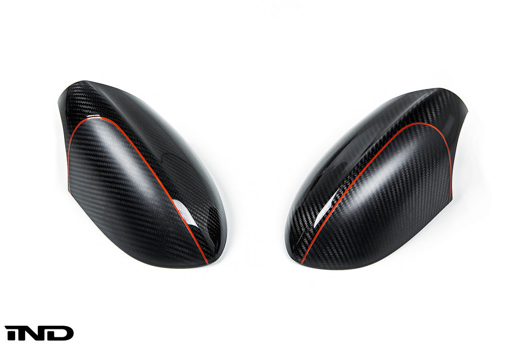 BMW Performance Carbon Fiber Mirror Covers with M5 Paint Scheme 4