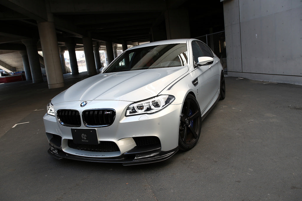 3D Design F10 M5 Carbon Fiber Front Lip Spoiler Set 4