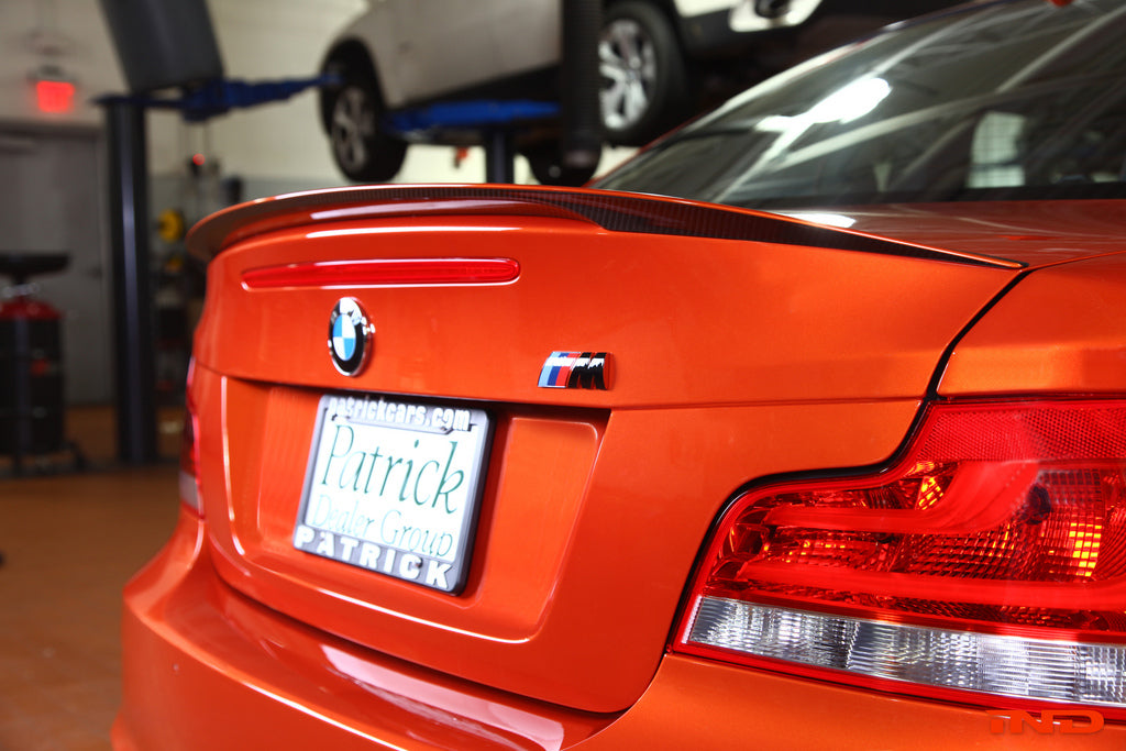 BMW Performance e82 1m spoiler with optional crt theme 1 - iND Distribution
