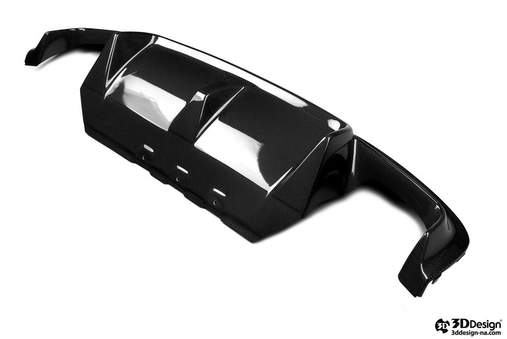 3D Design F10 M5 Carbon Fiber Rear Diffuser 1