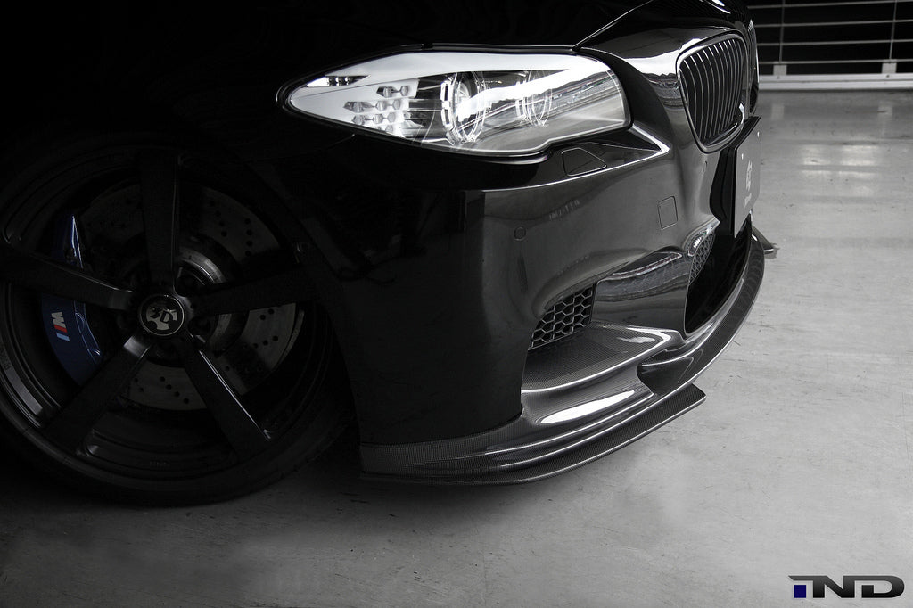 3D Design F10 M5 Carbon Fiber Front Lip Spoiler Set 9