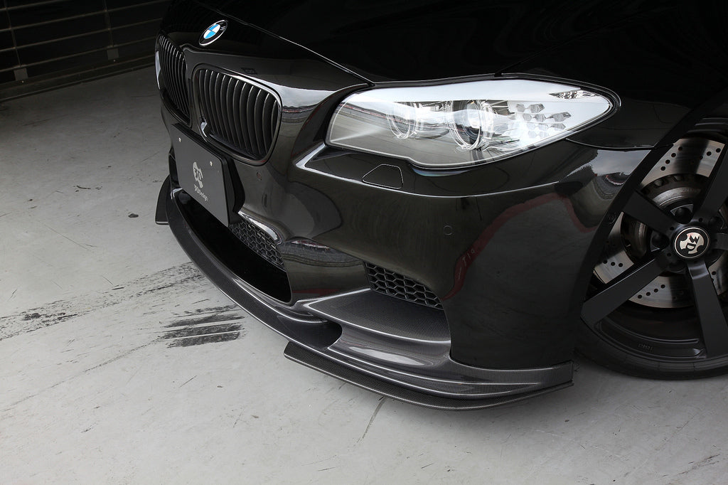3D Design F10 M5 Carbon Fiber Front Lip Spoiler Set 12