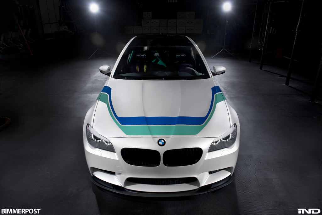3d design f10 m5 carbon fiber front lip spoiler - iND Distribution