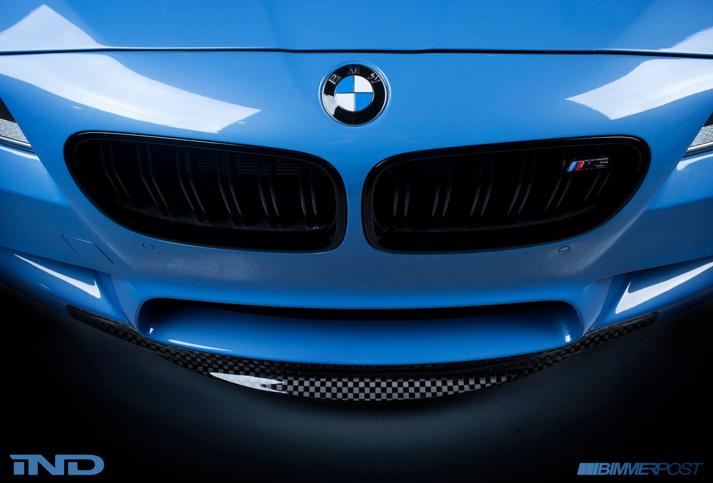 f10 m5 checkerboard carbon weave front lip with optional diffuser - iND Distribution