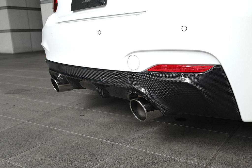 3d design f22 m sport carbon fiber rear diffuser - iND Distribution
