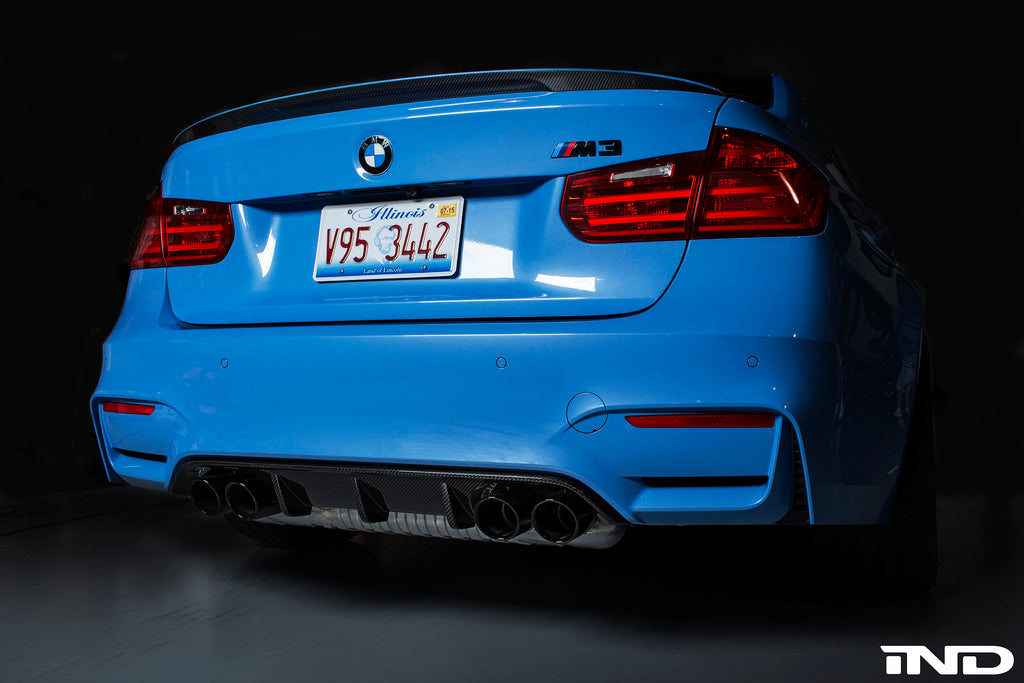 BMW m Performance f80 m3 carbon fiber trunk spoiler - iND Distribution