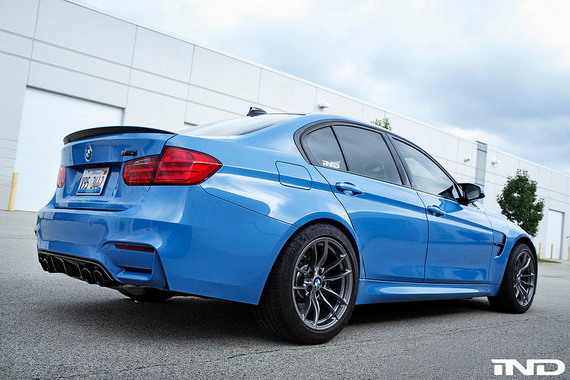 BMW m Performance f30 3 series carbon trunk spoiler - iND Distribution