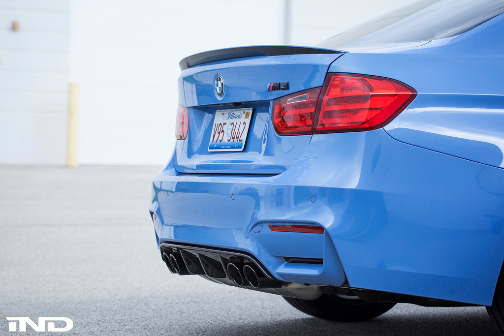 BMW m Performance f8x m3 m4 carbon fiber diffuser - iND Distribution