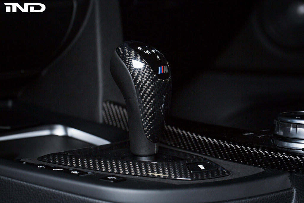BMW M Performance F-Chassis Carbon Shift Knob Cover - DCT Only