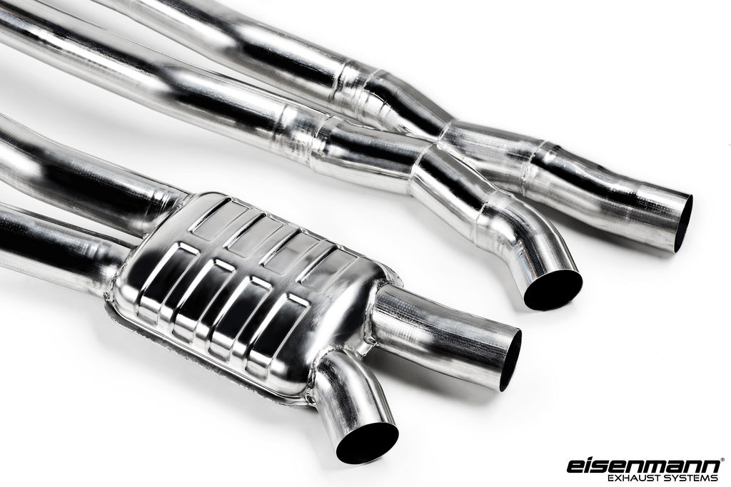 Eisenmann F8x M3/M4 - Resonated Centerpipe vs Non Resonated Centerpipe