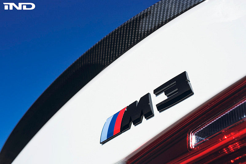 BMW OEM F80 M3 Gloss Black Competition Package Trunk Emblem 7