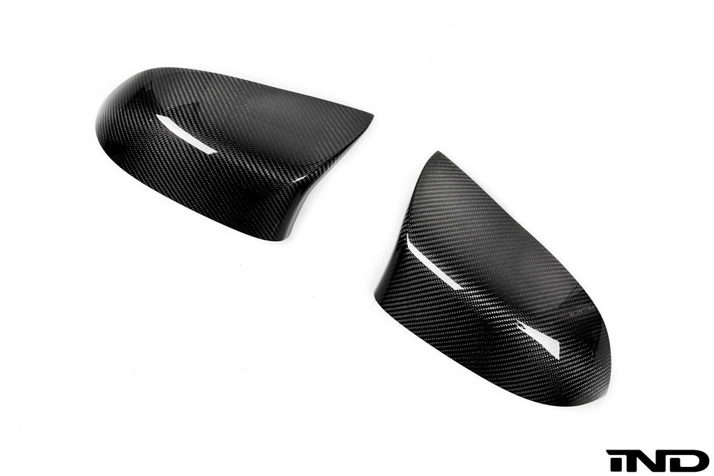 BMW m Performance f85 x5m f86 x6m carbon fiber mirror cover set - iND Distribution