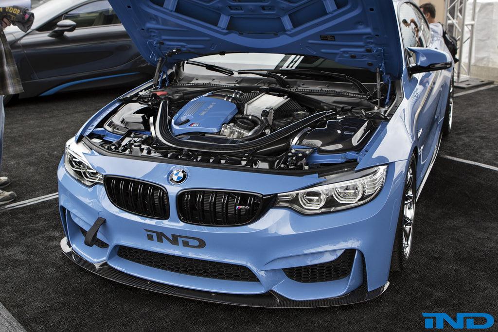 IND F80/F82/F83 M3/M4 Painted Engine Cover - Yas Marina Blue