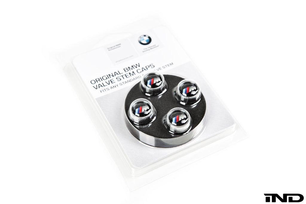 BMW OEM M Logo Valve Stem Cap Set