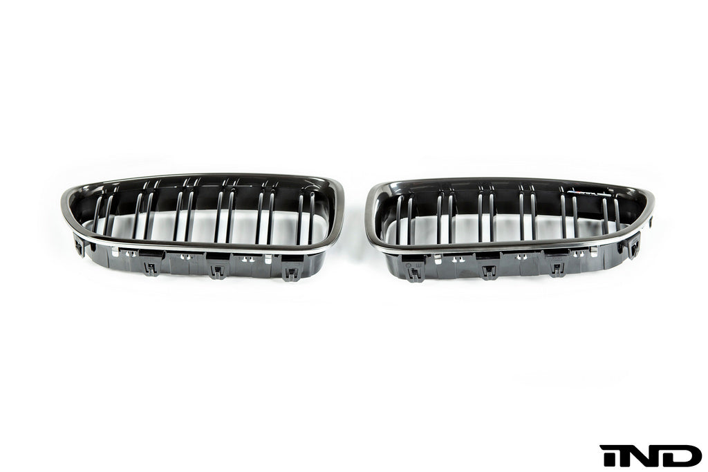 IND F10 M5 Black Chrome Front Grille Set