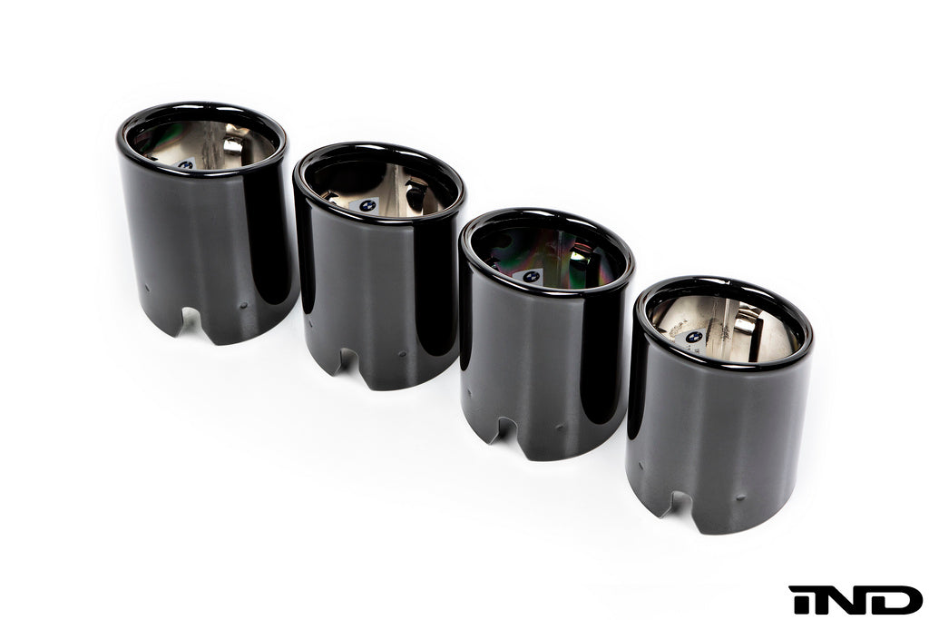 BMW F8x M3/M4 Competition Package Black Chrome Exhaust Tips