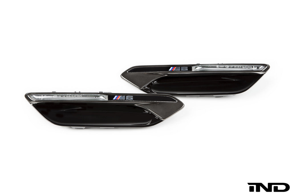 IND F06 / F12 / F13 M6 Black Chrome Side Marker Set