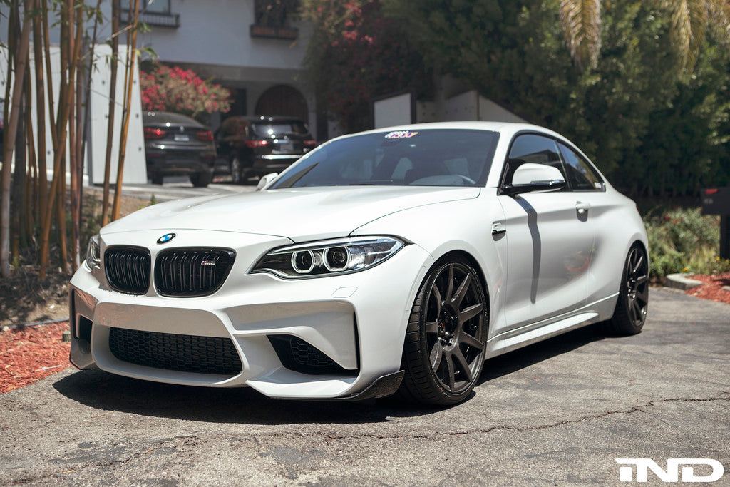 BMW m Performance f87 m2 carbon front winglets - iND Distribution