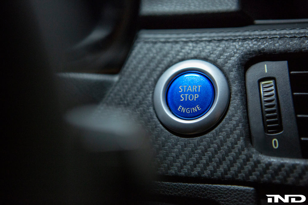 IND E9X 3 Series Polar Blue Start / Stop Button