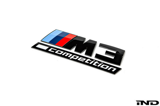IND F80 M3 Competition Gloss Black Trunk Emblem  1