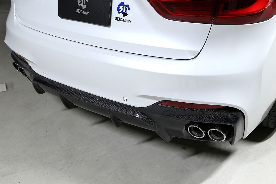 3d design f16 x6 m sport carbon fiber rear diffuser - iND Distribution