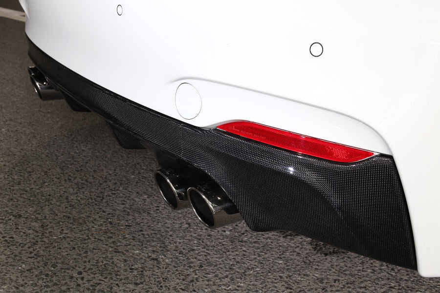 3d design f22 m sport carbon fiber rear diffuser 1 - iND Distribution
