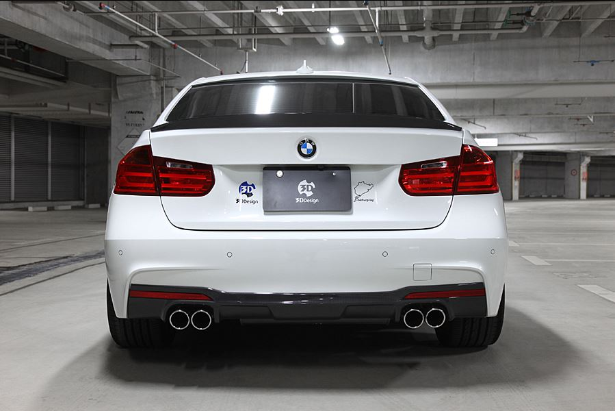 3d design f30 f31 335 m sport carbon fiber rear diffuser 1 - iND Distribution