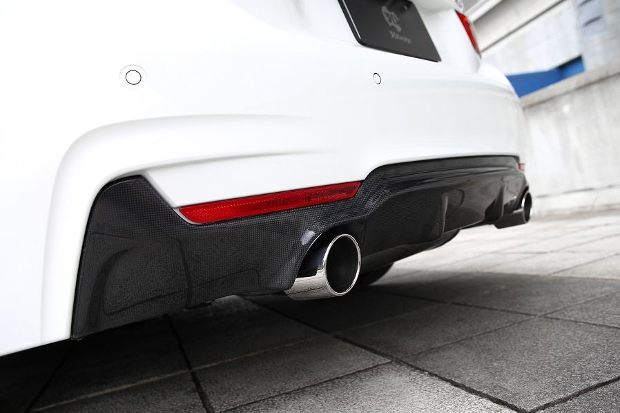 3d design f32 f36 m sport carbon fiber rear diffuser 1 - iND Distribution