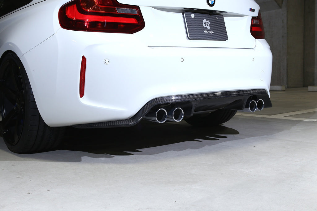 3d design f87 m2 carbon fiber rear diffuser - iND Distribution