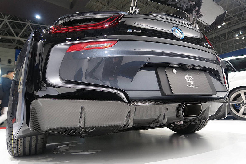 3d design i12 i8 carbon rear diffuser - iND Distribution