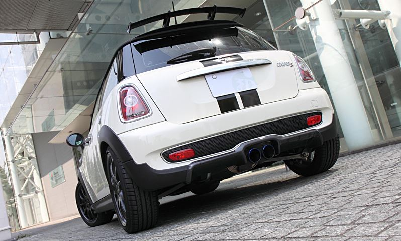 3D Design Mini R56 Cooper S Carbon Fiber Rear Diffuser 3