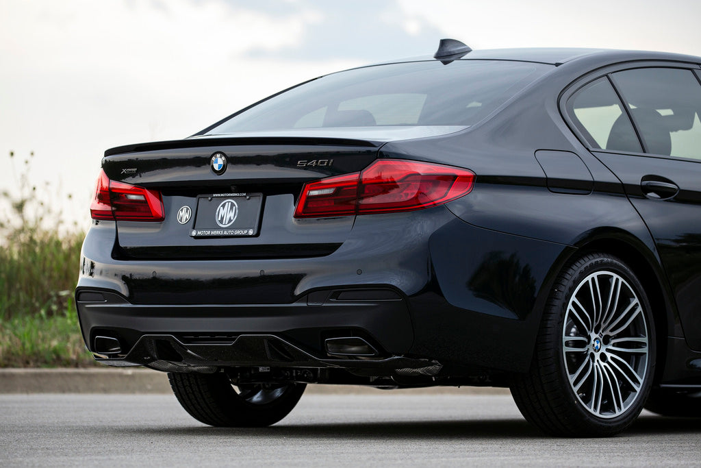 BMW m Performance g30 5 series msport carbon fiber rear diffuser - iND Distribution