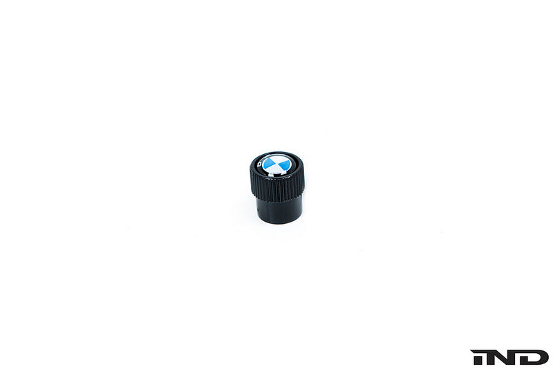 BMW OEM roundel black valve stem cap set - iND Distribution