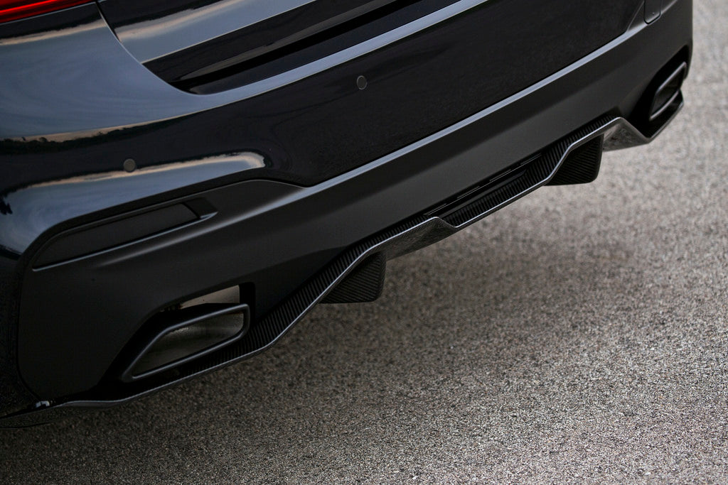 BMW M Performance G30 5-Series MSport Carbon Fiber Rear Diffuser 8