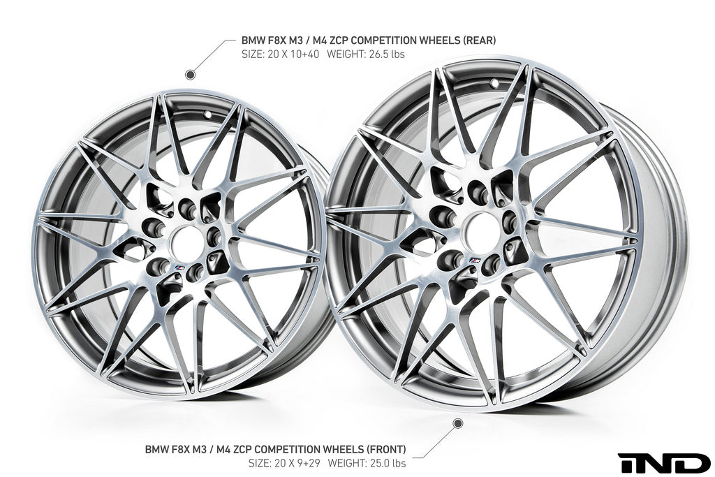 BMW OEM F8X M3 / M4 Style 666M Competition Package Wheel Set 2