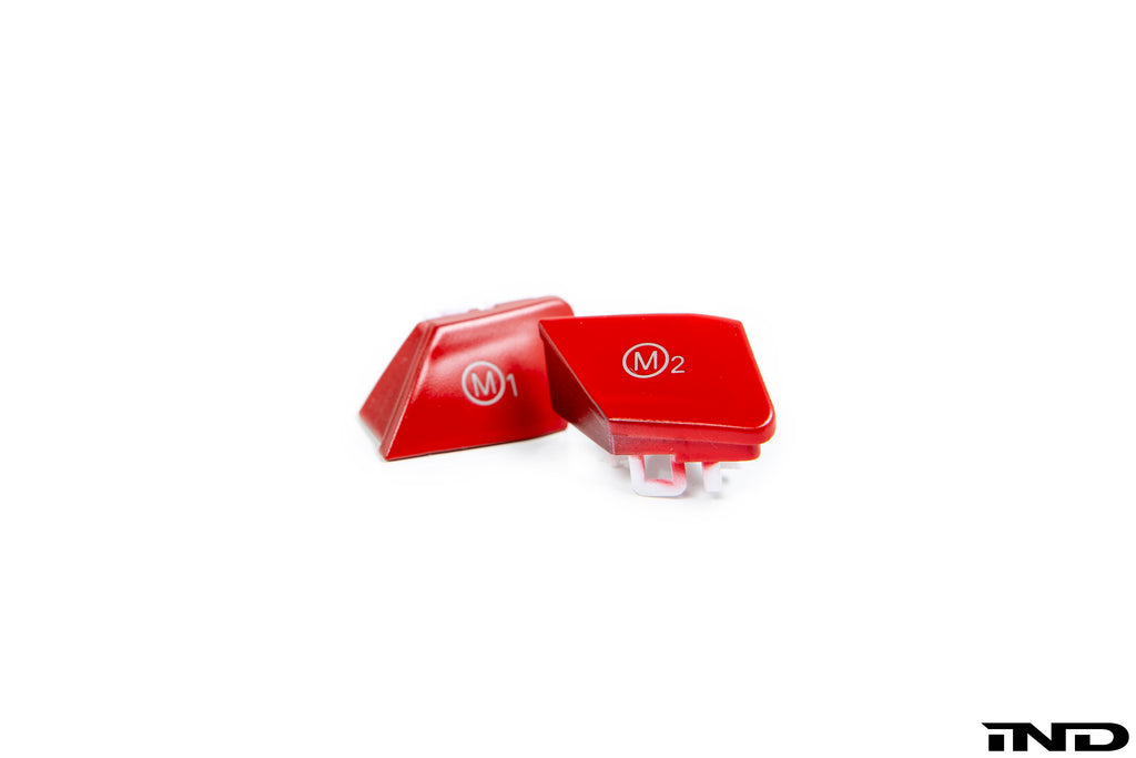 IND F87 M2 Competition Red M1 / M2 Button Set