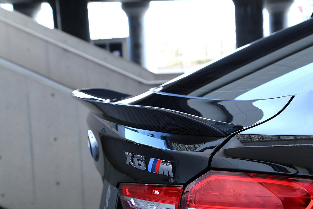 3d design f86 x6m f16 x6 carbon fiber trunk spoiler - iND Distribution
